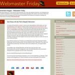 Webmaster Friday Blog